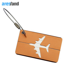 Aresland Mini Rectangle Aluminium Alloy Luggage Tags Travel Accessories Baggage Name Tags Suitcase Address Label Holder(China)