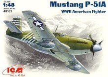Out of print! Plastic model kit ICM 48161 Mustang P-51A WWII USAF fighter 1/48(China)