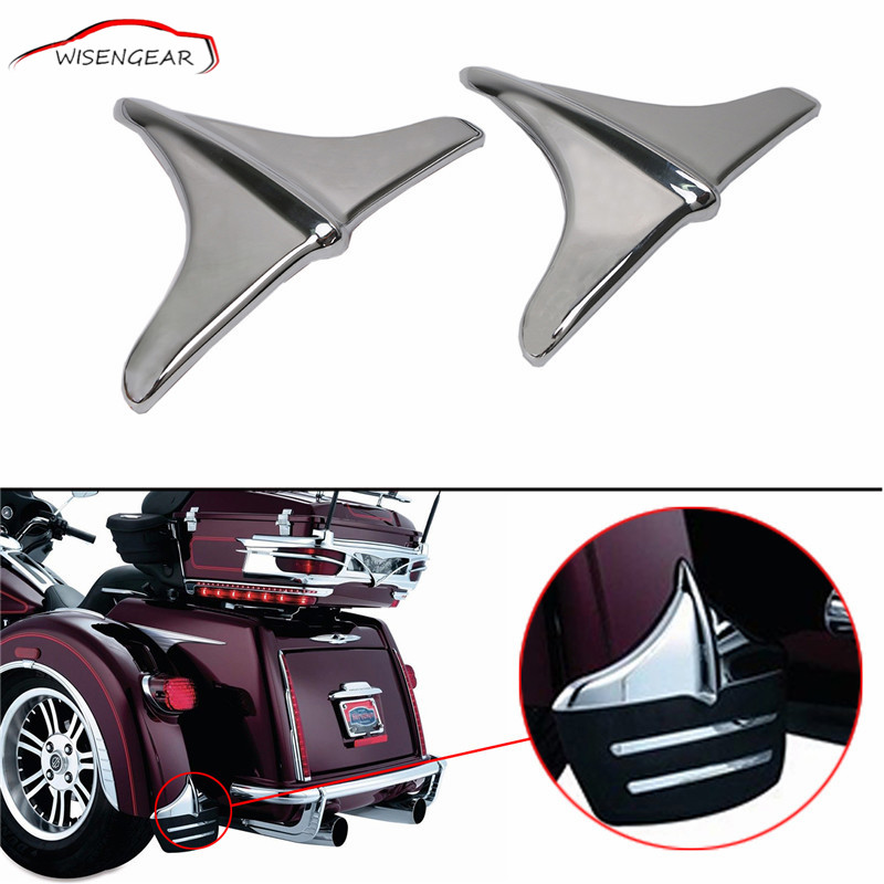 WISENGEAR 1 Pair Rear Fender Accents Front Lip Edge Trim For Harley FLHTCUTG Tri Glide Ultra Classics FLHXXX Street Glide C/5<br>