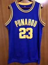 EJ Barack Obama 23 Punahou High Basketball Jersey Commemorative Edition Blue