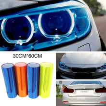 Vehemo 30*60cm Car Lights Film Color Change Car Sticker Blue Fog Light HeadLight Taillight Tint Vinyl Film Car Styling(China)