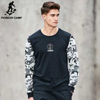 Pioneer Camp New Spring hoodies men brand clothing patchwork Camouflage sweatshirt male top quality fashion tracksuit  AWY701057