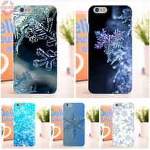 EJGROUP Soft TPU Silicon Fashion Cover Case For Apple iPhone 6 6S 4.7 inch Winter Pattern Snowflakes Beautiful