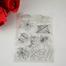 DECORA 1PCS leaves Clear Transparent Stamp DIY Scrapbooking/Card Making/Christmas Decoration Supplies