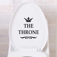 Creative Vinyl THE THRONE Funny Interesting Toilet Wall Sticker Bathroom for Home Decor Decal Poster Background Stickers(China)