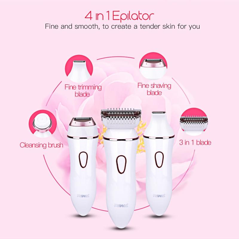4 in 1 Epilator women electric remover hair removal epilation bikini body depilatory facial depilation female lady shaver 4142<br>