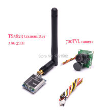 Mini TS5823 5.8G 5.8GHz 200mW 48CH FPV wireless audio video AV Transmitter + 700TVL COMS Camera 2.8mm Lens for ZMR250 Quadcopter