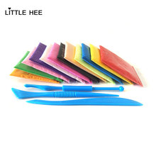 LITTLEHEE Light clay 12 colors 100g FREE 50 Accessories 3 Tools Air Drying Intelligent Plasticine Kids Slime toys Polymer clay