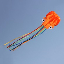 4m 3D Octopus Kite Toy Single Line Stunt /Software Kite Outdoor Sport Cartoon Octopuses Flying Kites Easy to Fly(China)