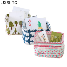 Linen Storage Box Organizer Box Desktop Storage Box Household Storage Bath Bag Laundry Basket Pencil Case Decoration(China)