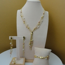 Yuminglai Dubai Fine Jewlery Exquisite Jewelry Sets Necklace for Women FHK5804