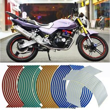 "RIN 18"" Motorcycle Styling Wheel Hub Rim Stripe Reflective Decal Stickers For YAMAHA HONDA SUZUKI"