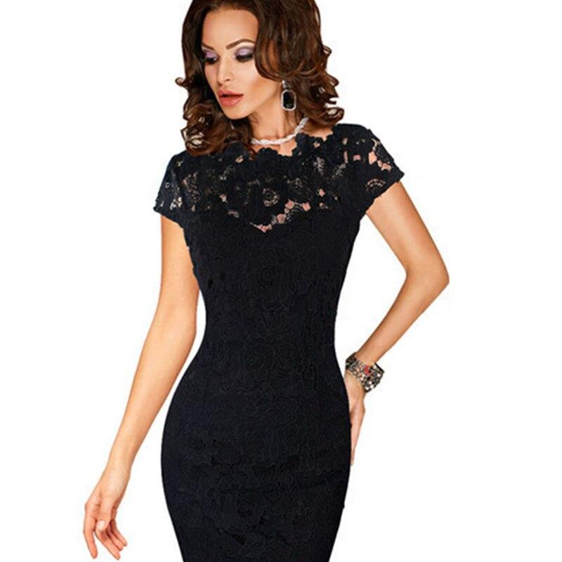 summer Fashion Women patchwork embroidery dress bayan elbise black lace knitted dress casual office dress vestidos  clothing Îäåæäà è àêñåññóàðû<br><br>