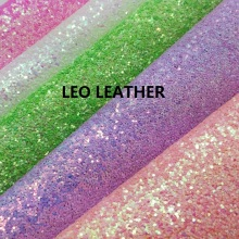 5PCS  A4 SIZE (21X29cm)  Chunky Glitter Leather PU glitter Fabric for DIY Sewing SK11A
