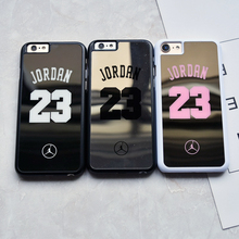 Fashion flyman Michael Jordan 23 TPU Soft Rubber Silicon case For iphone 6 6s Plus 7 plus Hard mirror cover capa coque