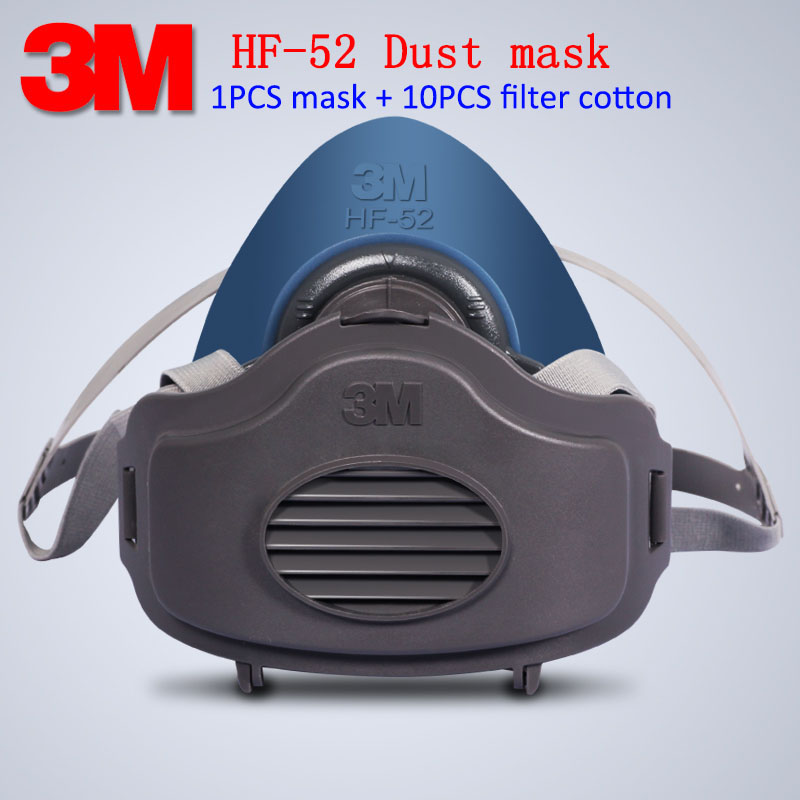 3M HF-52 respirator dust mask new style Genuine 3200 upgrade version respirator mask PM2.5 Industrial dust Ride filter mask<br>