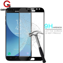 Buy Full Cover Tempered Glass Samsung Galaxy J5 J7 J3 2017 J530 J730 J330 Full Screen Protector Film Blue Color Protective EU for $1.24 in AliExpress store