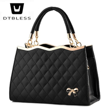 DTBLESS 2018 Women handbags Ladies Leather Office tote bag for girls Famous Lady's Flap bag High Quality handbag C8136-1