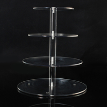 Assemble and Disassemble Round Acrylic 3 & 4 Tier Cupcake Cake Stand For Birthday Wedding Party Cake Shop Home Free Shipping(China)