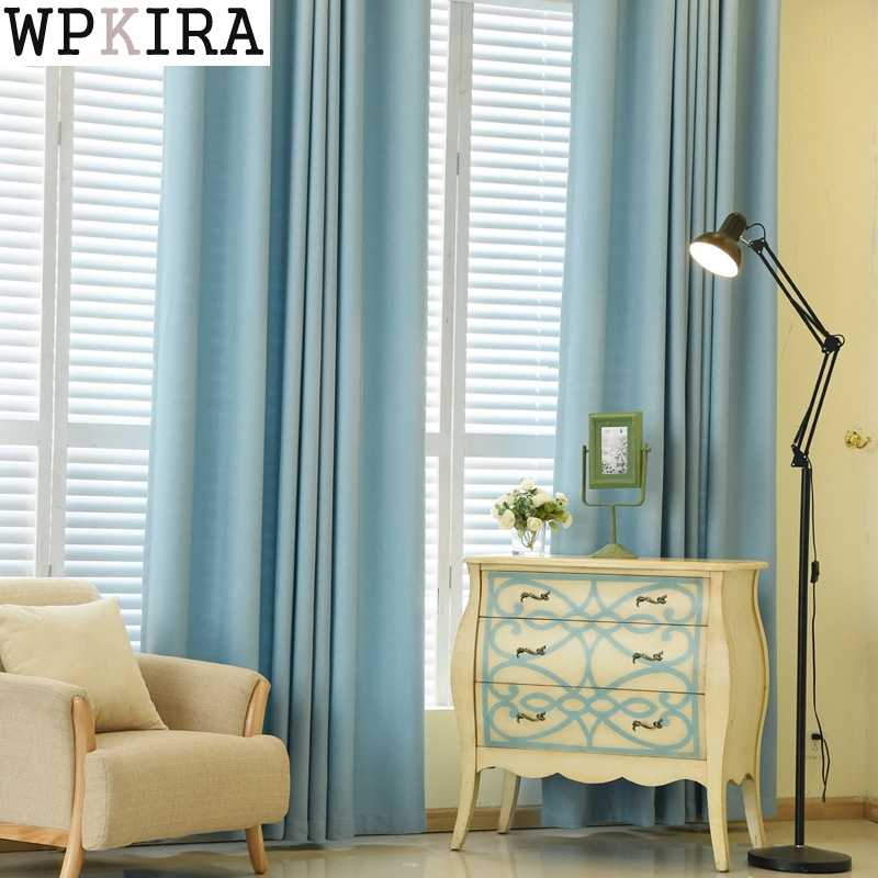 Velvet Solid Color Curtain Blackout Drapes Grey Curtain Fabric for Living Room Window Treatments Green Kitchen Shade S102&30