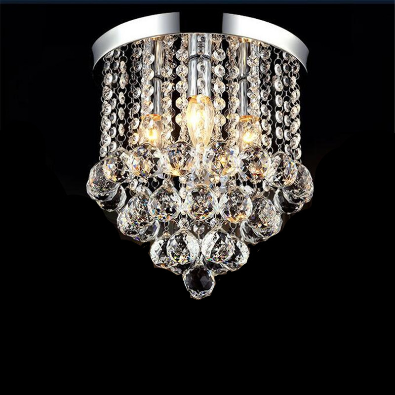 Modern Fashion Popular K9 Crystal Led E14 Ceiling Light For Aisle Entrance Living Room Bedroom Dia 15/20/25/30cm AC 80-265V 1281<br>