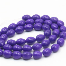 7x9mm Accessories Imitation Pearl Purple Glass Beads Wholesale Diy Loose Stones For Women Girls Gifts Jewelry Making Wholesale