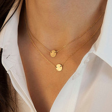 N769 Double Layer Chain Necklace Fashion Jewelry Clavicle Bijoux OL Geometric Necklaces HOT Sale(China)