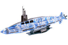 Educational toy 1pc creative Military submarine ship 3D paper DIY jigsaw puzzle model kits children boy gift toy(China)