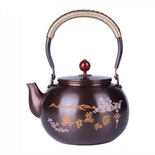 Buy 1.5L handmade Tea Pot pure Copper kettle Chinese Teapot Using Green Puer Tea Polishing Oolong Kettle Pot Boiling Water for $62.73 in AliExpress store
