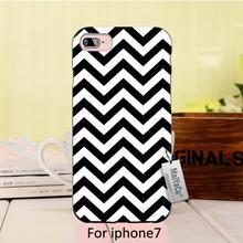 Simple black and white striped visual effects 2016 Colored Drawing Hard Case  For case iPhone 7