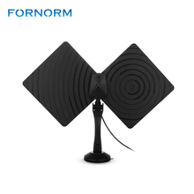 Fornorm 360 Degrees Rotatable 1080P Digital HDTV Antenna 50 Miles Range Indoor Flat TV Antenna with Bracket Amplifier Coaxial(China)