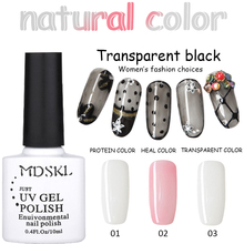 MDSKL 10ML  Health Color Transparent Black Silk Stocking Nail Polish Varnish Gel Soak Off Manicure Nail Art UV Gel