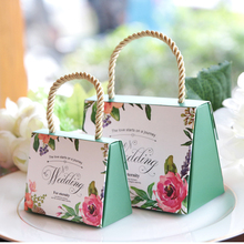 Free shipping High-quality Butterfly Flower Candy Boxes Wedding favors  Portable Gift Box  Party Favor Decoration 100pcs/lot