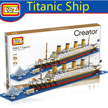 HotLOZ RMS Titanic Ship 3D Building Blocks Toy Titanic Boat 3D Model Educational Gift Toy for Children Compatible With legoe(China)