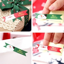 60pcs Christmas DIY Paper Sticker Labels Seal Envelope Packaging Gift Box Wrapping Soap Craft Baking Decoration(China)