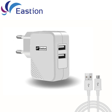 Eastion 2 USB Charger Adapter 5V 2A EU Plug Universal Trave Mobile Phone Fast Charging For iPhone Xiaomi Samsung Chargers Device