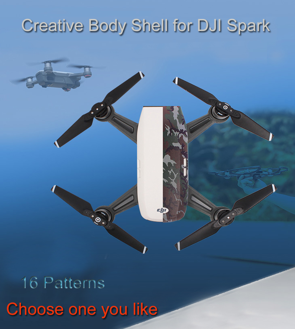 FPVRC Skin Cover for DJI Spark Color Printed Protective Shell Cool Graffiti Cover DIY Body Shell For DJI Spark Rone