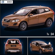 Free Shipping Large Scale Simulation Alloy Car  Wholesale star alloy models Volvo XC60 1:24 toy car genuine 41600