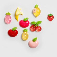 10pcs! Powerful fruit resin fridge magnet kitchen decorated Refrigerator Sticker Magnetic Stickers for Kitchen accessories(China)