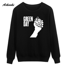 Aikooki Fashion green day Sweatshirt Hoodies Men Women Hip Hop Autumn Winter Warm Streetwear Sweatshirt men Clothes Fashion 3xl(China)