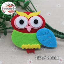 6CM Non-woven patches owl Felt Appliques for clothes Sewing Supplies diy craft ornament