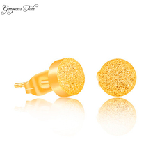 GORGEOUS TALE Stainless Steel Earrings Fashion Jewelry Bridesmaids Gift Simple Bijoux Round Stud Earring Women Boucle D'Oreille