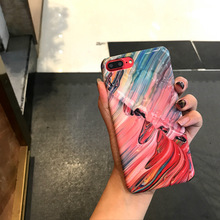 SZYHOME Phone Cases for IPhone 6 6s 7 8 Plus Luxury Painting Color Decal Process for IPhone Phone Cover Case Capa Coque(China)