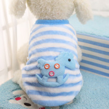 New Fashion Dog Supplies Cartoon Small Dog Clothes Pet Supplies Soft Fleece Winter Warm Dog Vests New Born Puppy Teddy Clothing