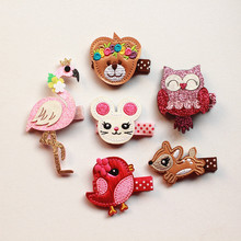 Animals Cute Rabbit Cartoon Swan Hair Clip Korean Shiny Girls Fawn Hair Owl Lovely Bea Hairpins Stars Princess Hairpin Cute(China)