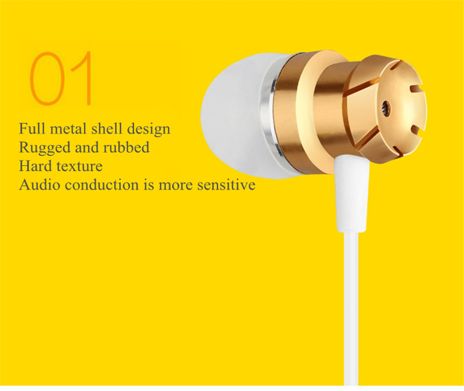 ME30 Metal Earphones Sports Noise Cancelling Headphones for Phone Stereo Headset with Mic for Xiaomi Computer iPHone (3)