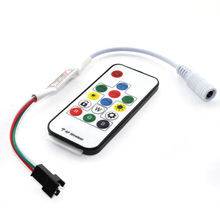 Free shipping C5 SP103E Mini RF Controller with 14 keys wireless Remote For DC5V WS2812 DC12V WS2811 Dream Color LED Strip Light