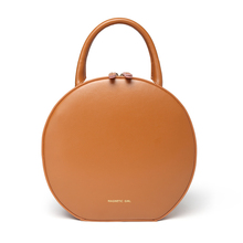 Vintage Luxury Round Bag Genuine Leather Women Round Handbags Circular women work bag street Party bag small circle tote bag