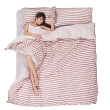 Stripes Bedding Set Polyester Duvet Cover Bed Sheet 2pcs Pillowcases Bedroom Textile Bed Linen Queen Kids Bed Set