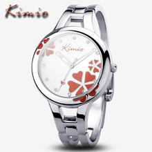 KIMIO Brand Women Dress Watches Montre Femme Silver Bracelet Clock Fashion Casual Stainless Steel Quartz Watch Relogio Feminino